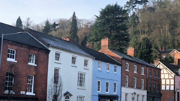colourful houses in Montgomery Wales