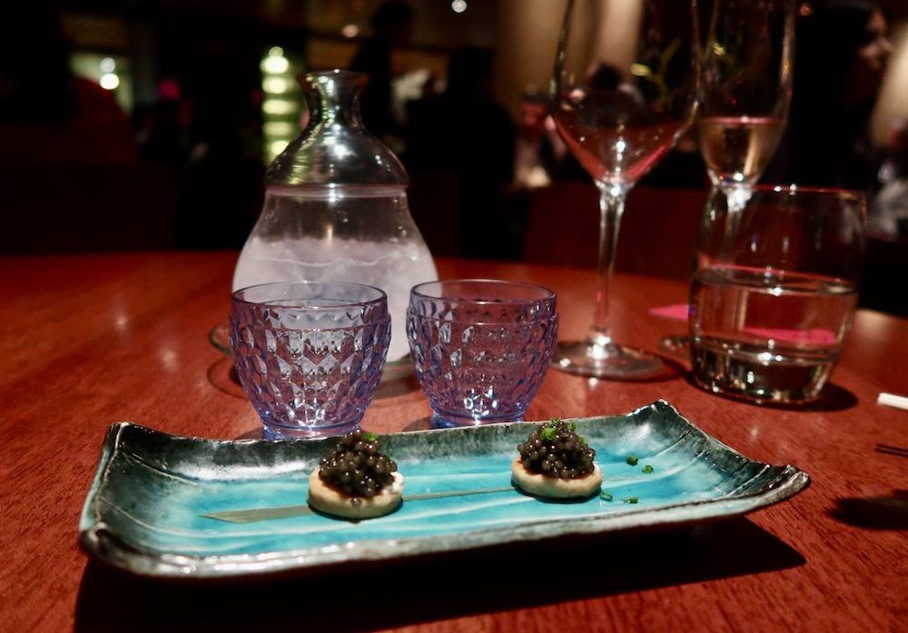 Novikov sake and caviar