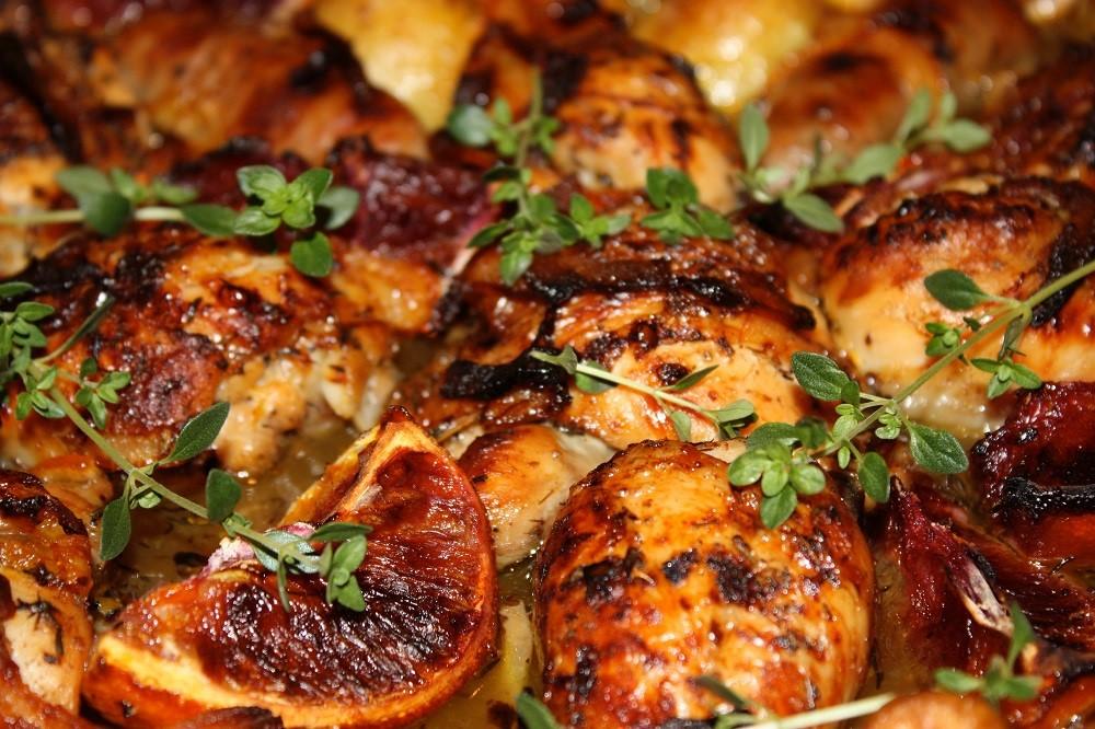 Radnor Preserves - Recipe - Sicilian Blood Orange Marmalade - Chicken&Sausages
