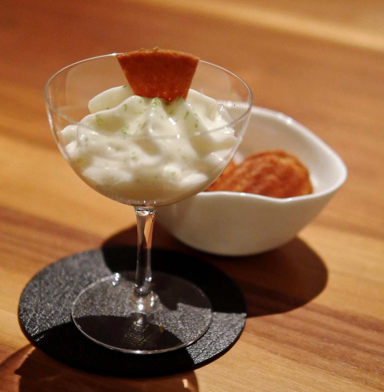 The Clove Club - Amalfi Lemonade and Kampot White Pepper Ice Cream