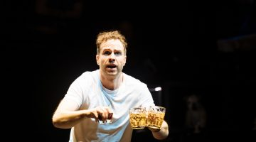 jpeg 3. Rafe Spall as Michael in Death of England by Clint Dyer and Roy Williams. Image by Helen Murray