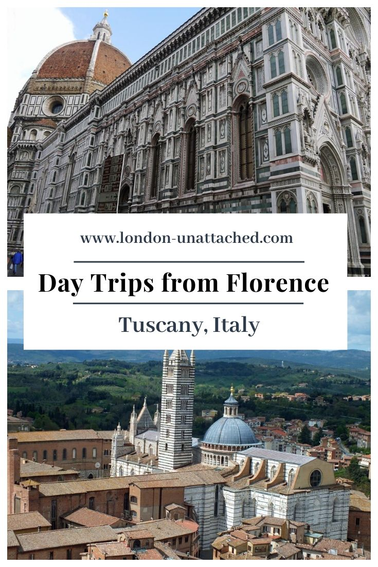 Day Trips from Florence - Easy destinations from Florence - Lucca, Pistoia, Livorno, Siena and more - what to see and where to go from Florence in Tuscany #Italy #Tuscany #Florence #Lucca #Pistoia #Livorno #Pisa