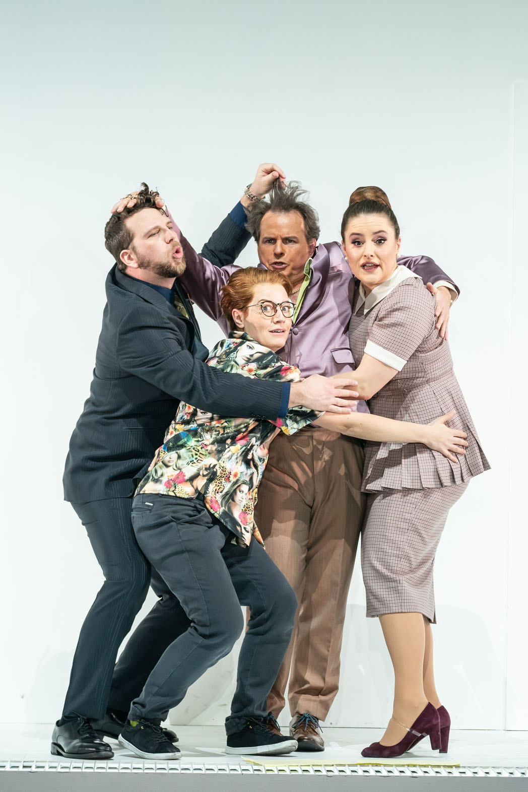 ENO The Marriage of Figaro 2020, Johnathan McCullough, Hanna Hipp, Colin Judson, Louise Alder, © Marc Brenner-788