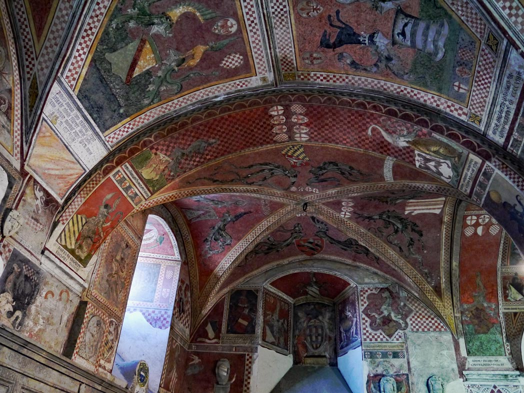 Frescos in Pistoia Tuscany
