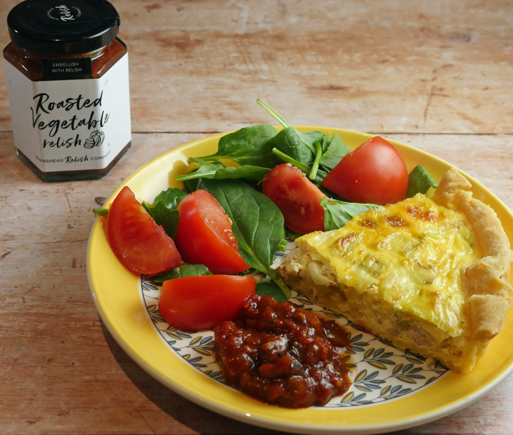 Hawkshead Roasted Vegetable Relish and quiche