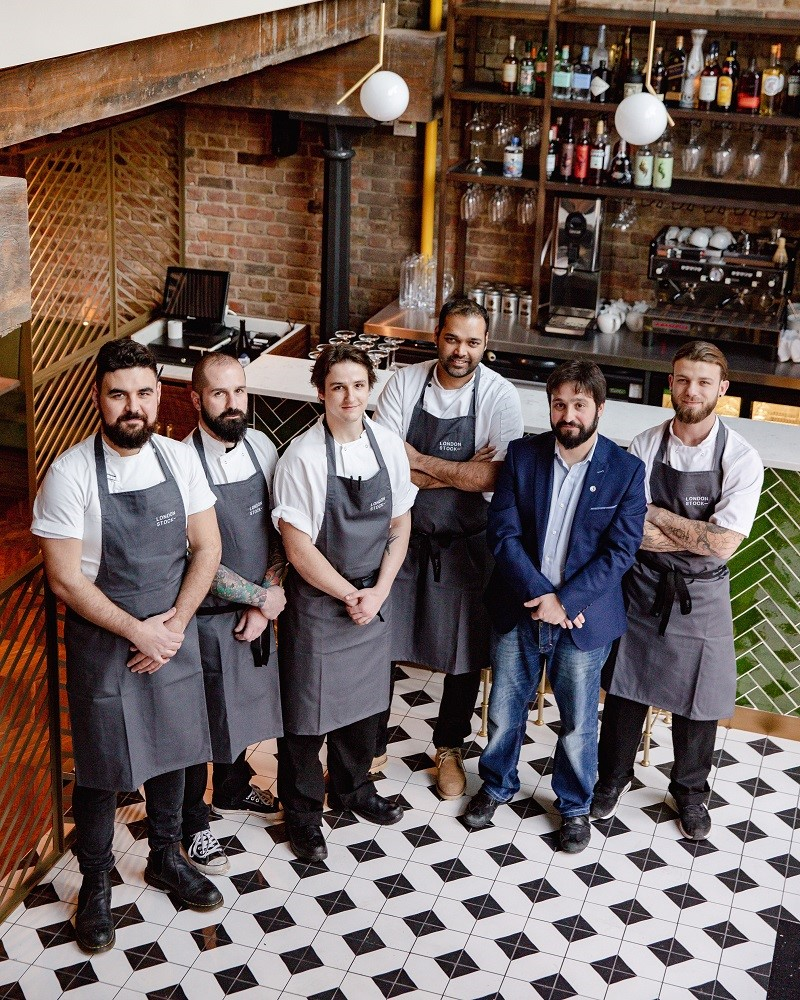 London Stock restaurant - chefs the Team
