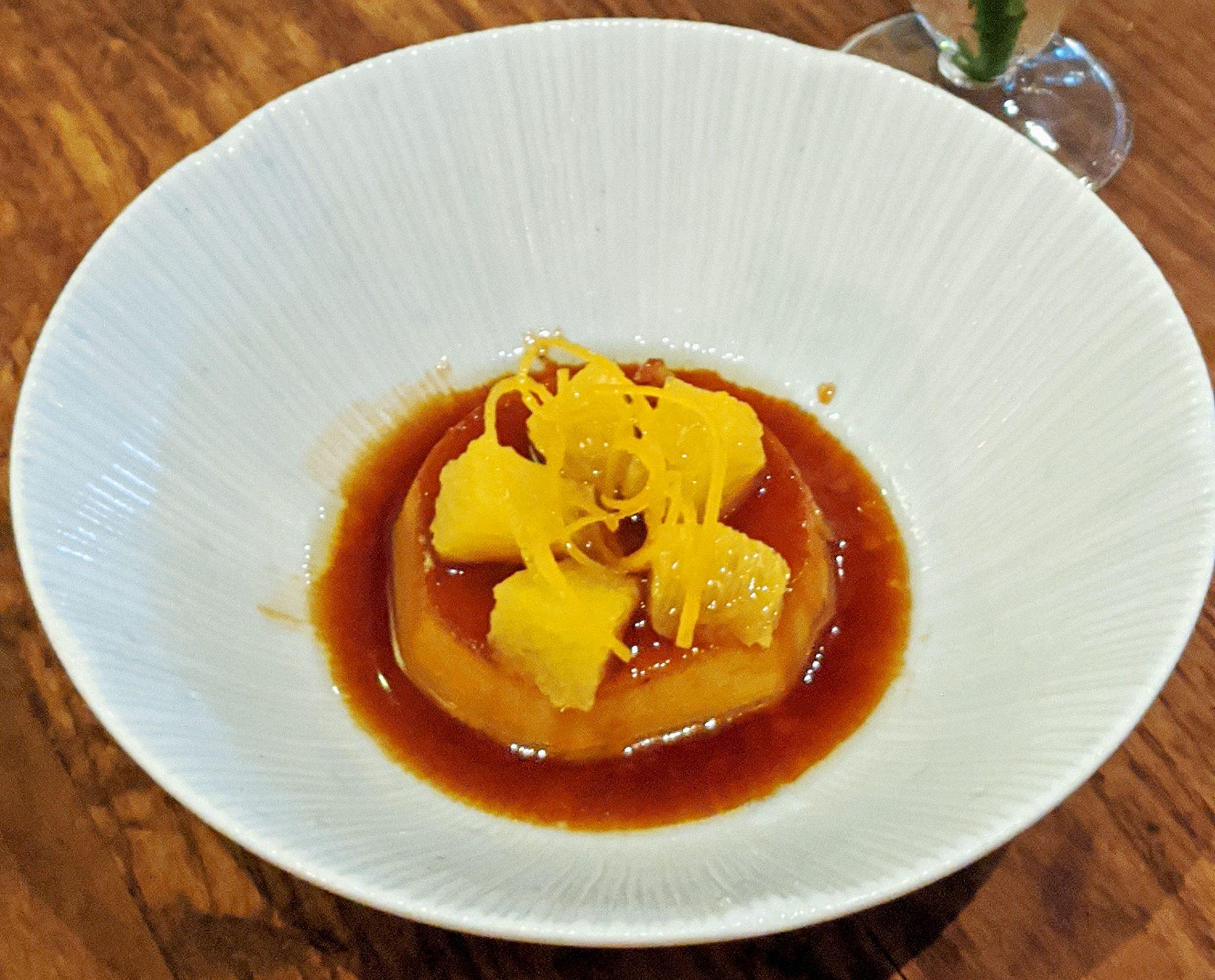 Pudim with Caramelised Orange