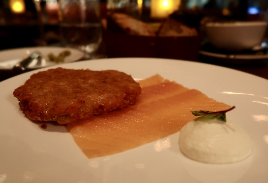 Salmon and rosti