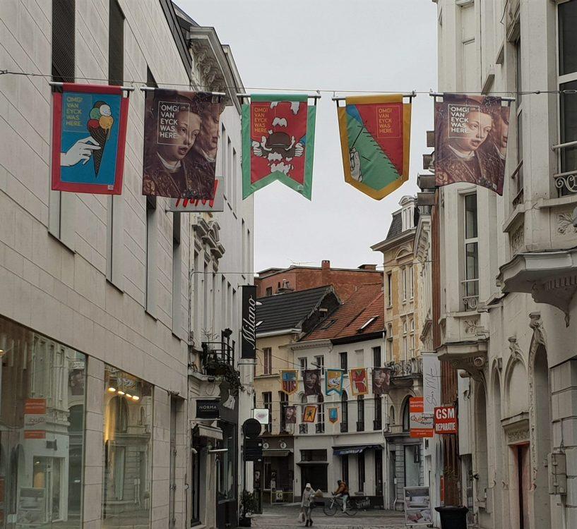Van Eyck banners, Ghent