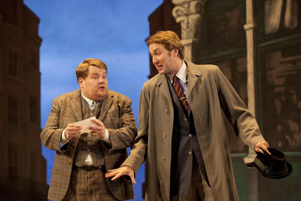 ONE MAN TWO GUVNORS by Bean, , Author - Richard Bean, Director - Nicholas Hytner, Designer - Mark Thompson , Lighting - Mark Henderson, The National Theatre, 2011, Credit: Johan Persson/