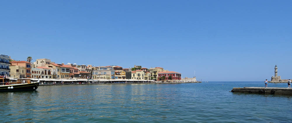 Chania Old Harbour Panorama