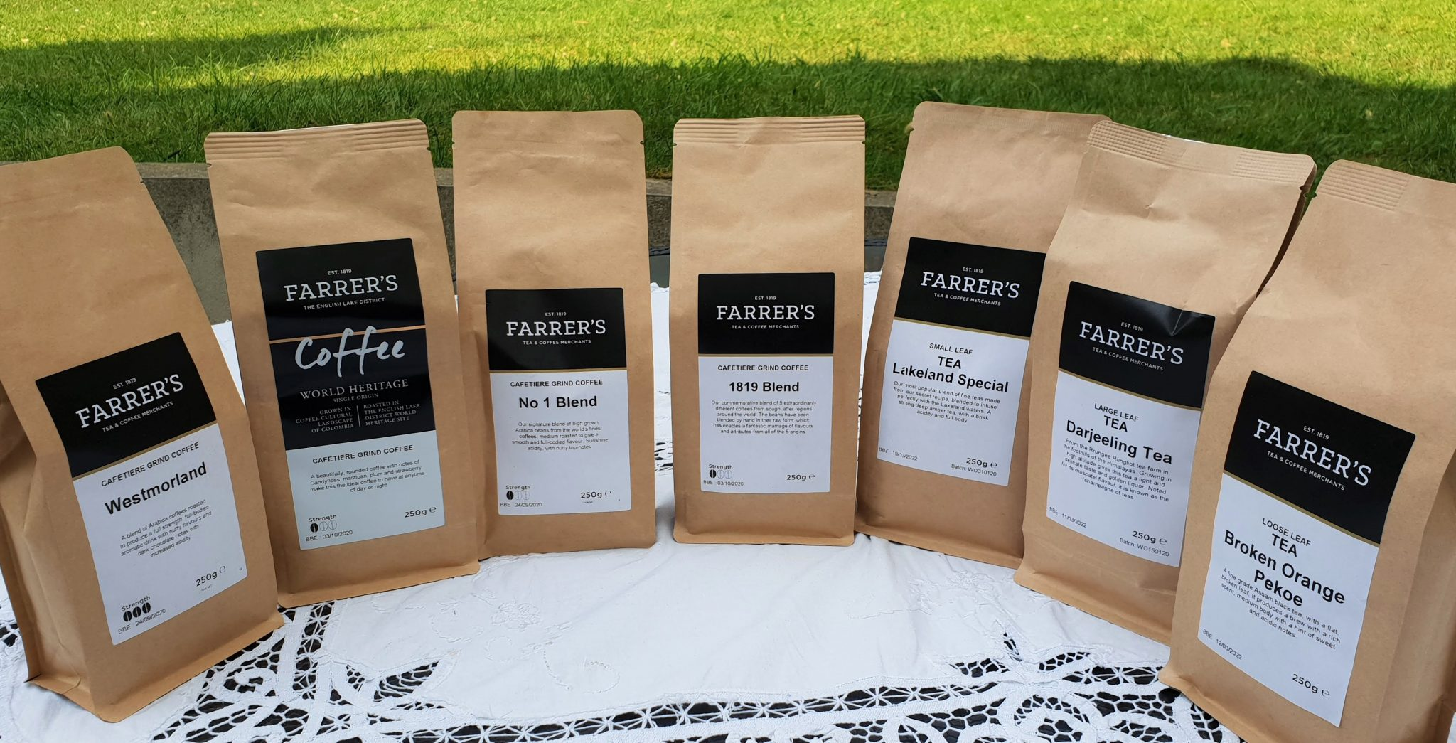 Farrer's Tea and Coffee selection
