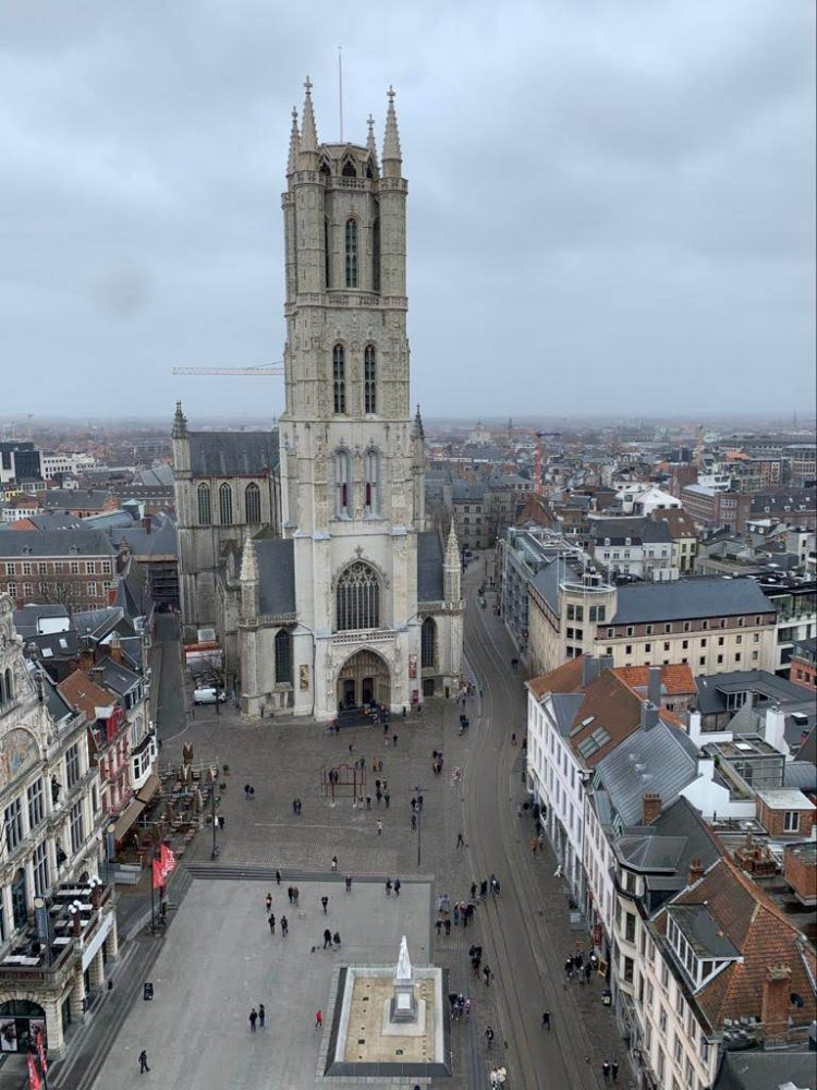 Ghent, aerial view-