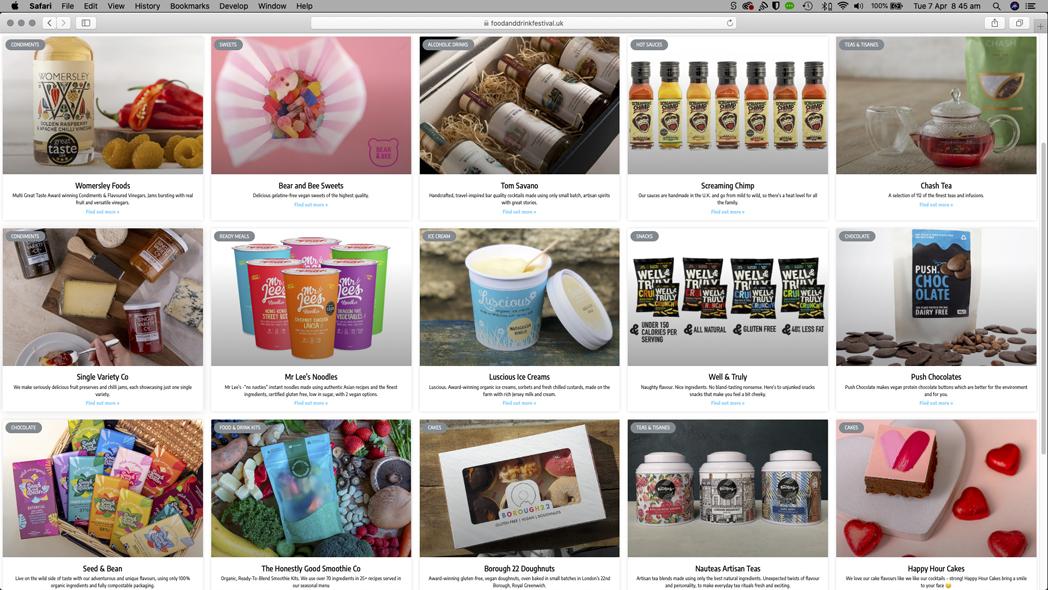 The Food _ Drink Festival Online 2020 Website 2