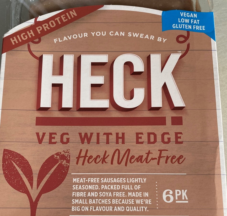 Heck vegetarian sausages