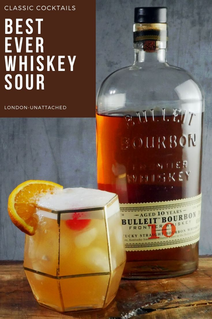 Whiskey Sour – a Classic Whiskey Cocktail with Bulleit Bourbon
