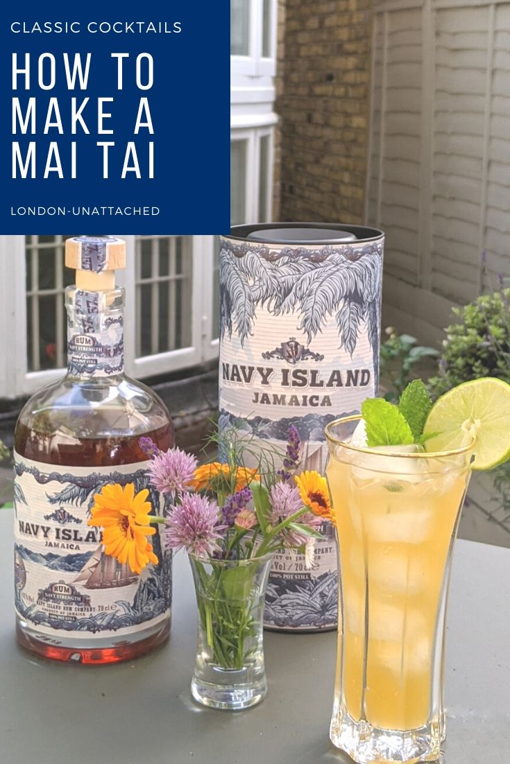 Mai Tai Cocktail with Navy Island Rum