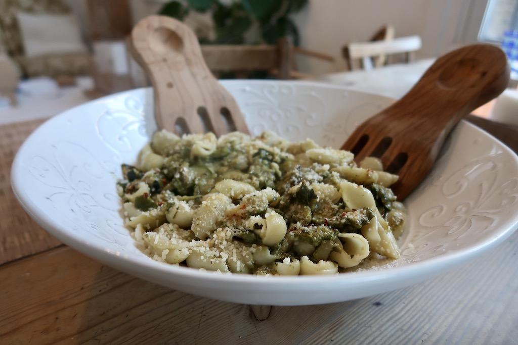 Orecchiette with Romano courgette pasta 1