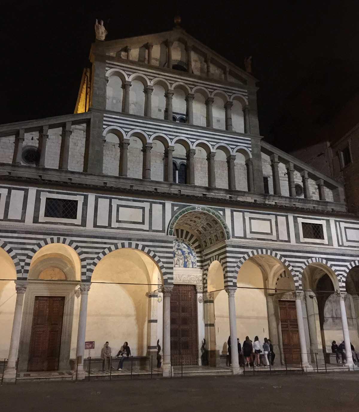 Pistoia Italy at Night