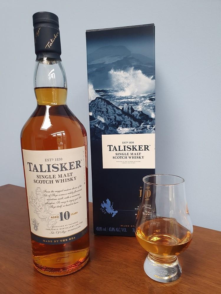 Talisker 10 year old single malt whisky.