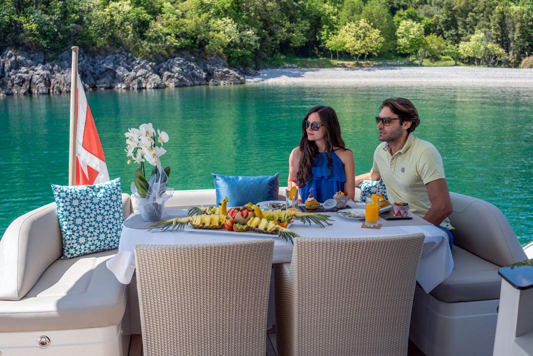 Breakfast on board a Goolet in Croatia