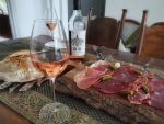 Charcuterie paired with left field rose