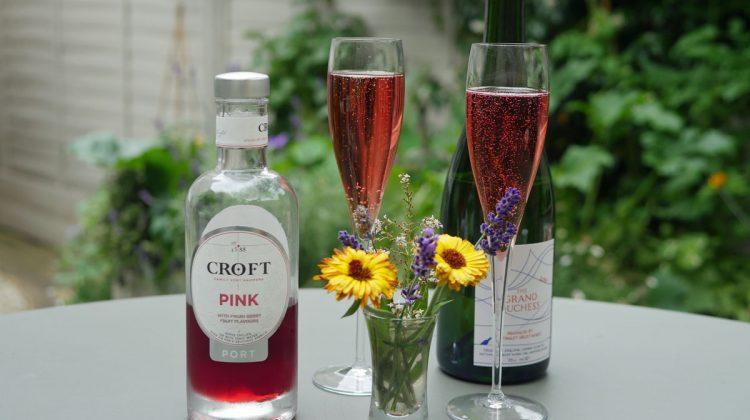 Croft Pink Port Cocktail Served