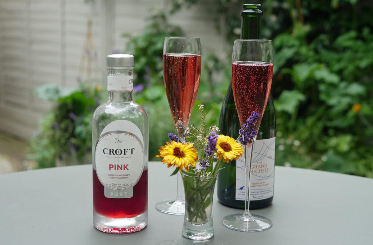 Croft Pink Port Fizz Served