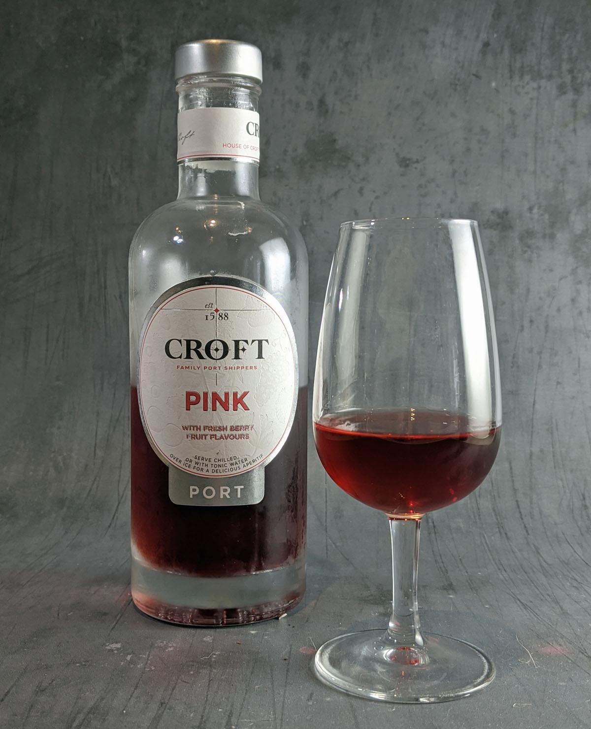 Croft Pink Port in a glass