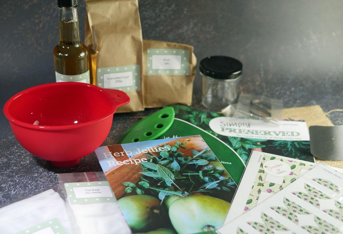 Herb Preserves Kit goodies