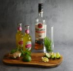 Ingredients - spiced rum mojito