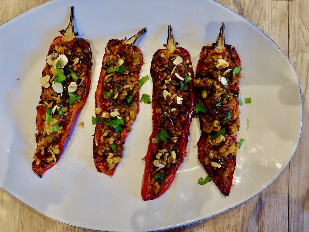 Stuffed Romanao peppers