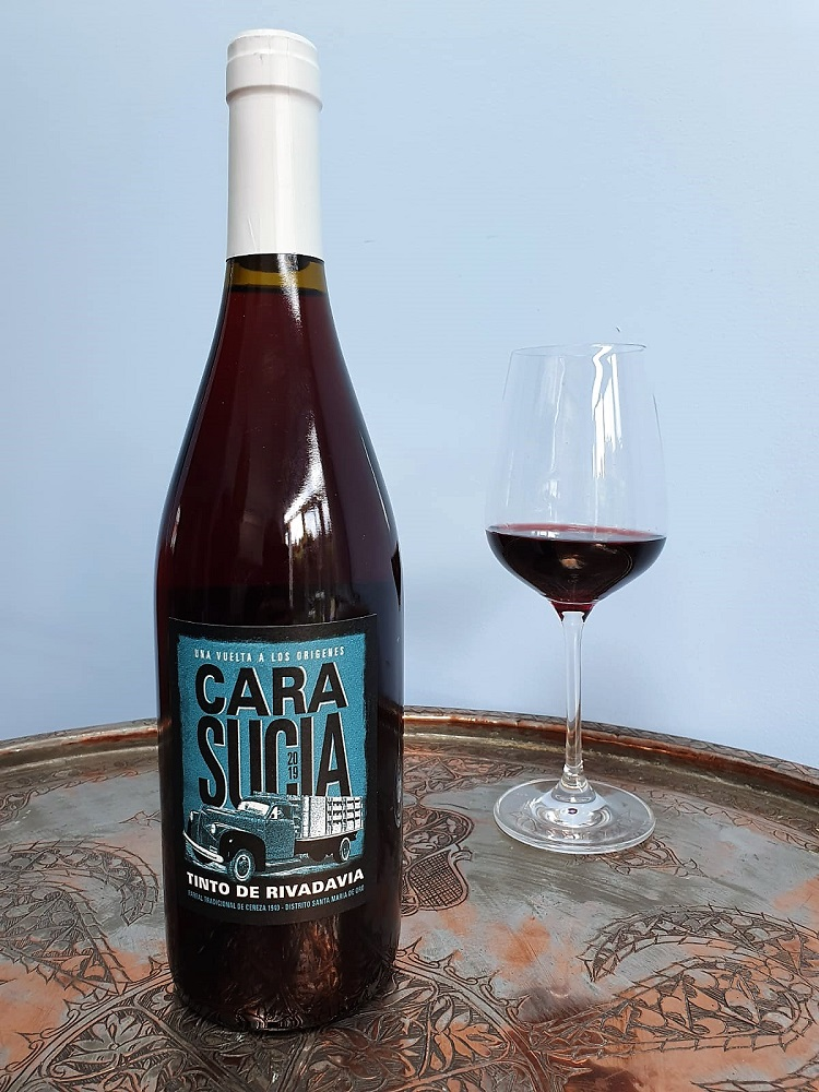 Bottle of Cara Sucia red wine from The Wine List.