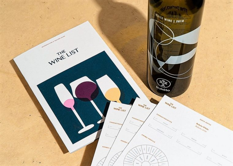 Tasting cards from the Wine List