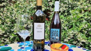 Bottles of Cara Sucia and Masssaya White wines
