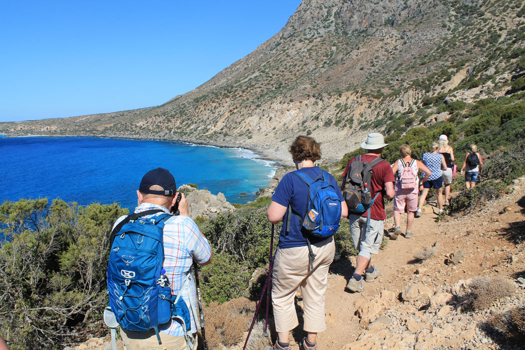 Solos Walking Holiday in Crete - photo stop at Elafonis