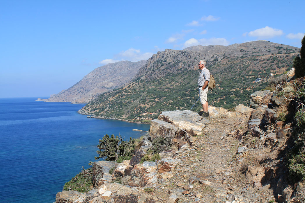 Vantage Point on Walking Holiday in Crete
