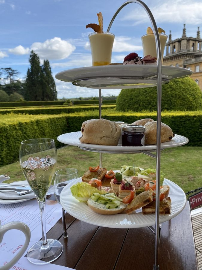 Blenheim Palace afternoon tea tray