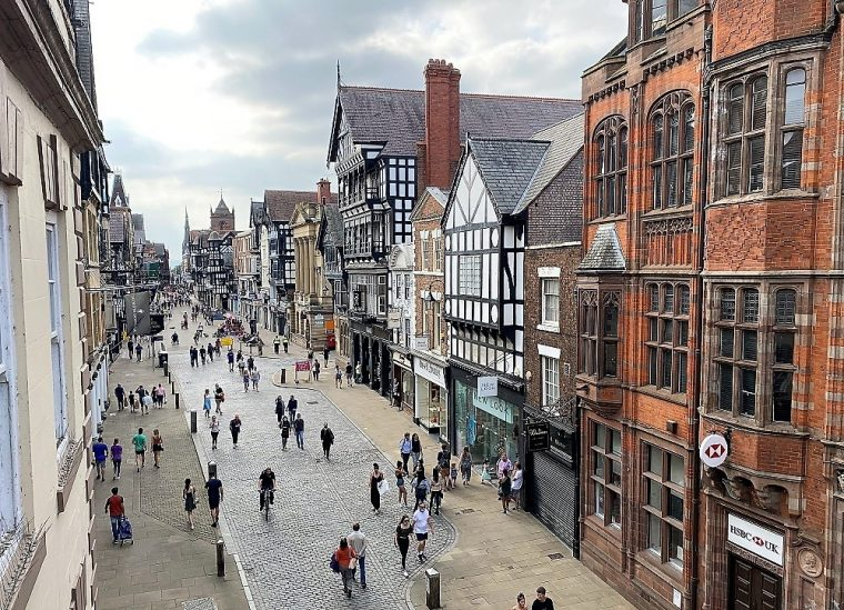 streetview of Eastgate in Chester