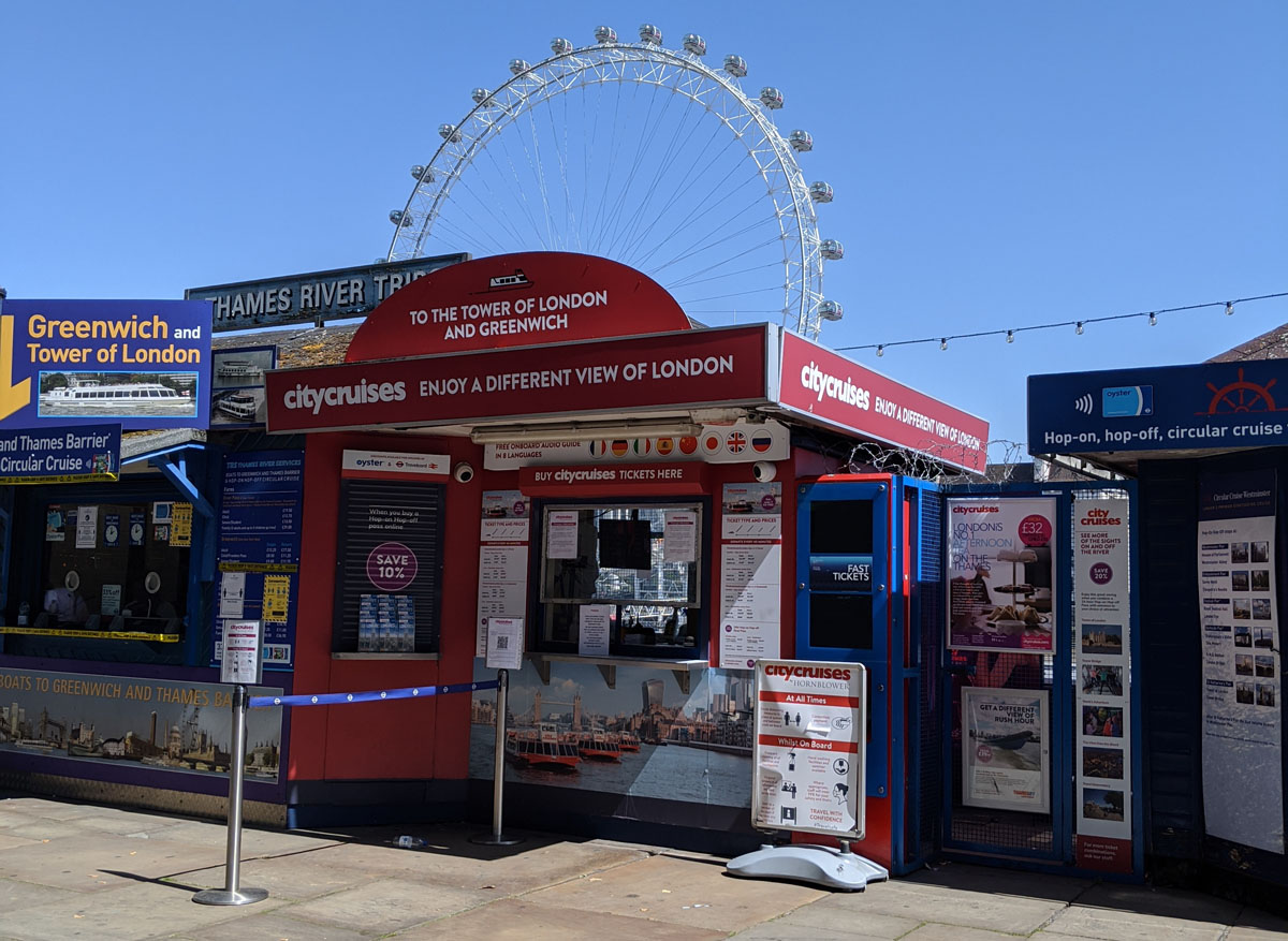 City Cruises Kiosk at Westminster Pier