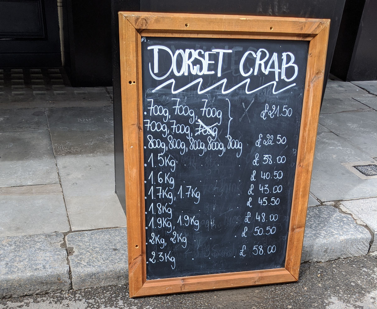 Dorset Crab by weight