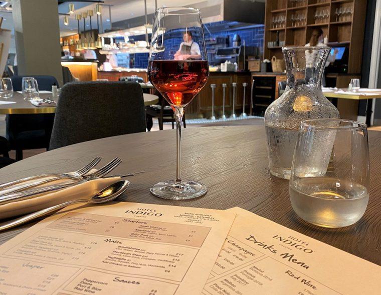 kitchen and restaurant at Hotel Indigo Chester