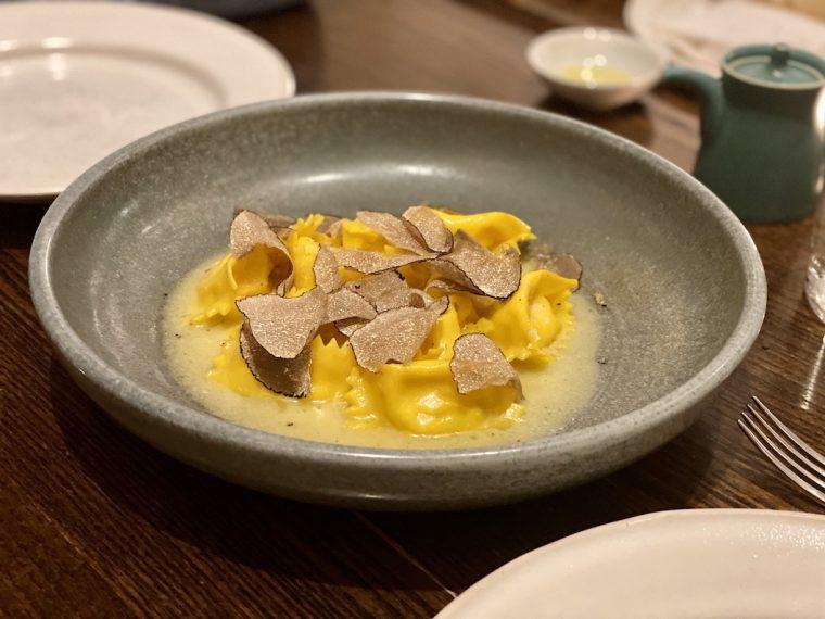 LUCA RESTAURANT Mafaldine with italian summer truffle