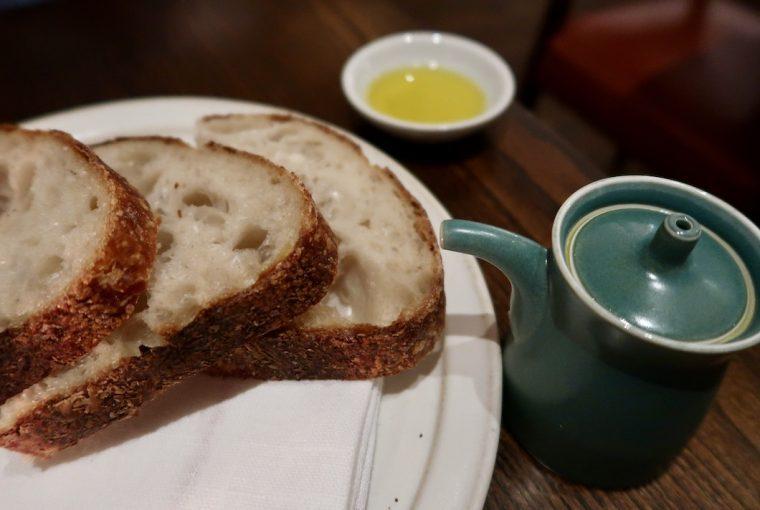 LUCA RESTAURANT bread and oil
