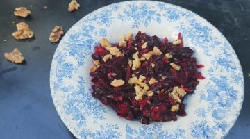 Summer Kitchens, beetroot with apple and nuts