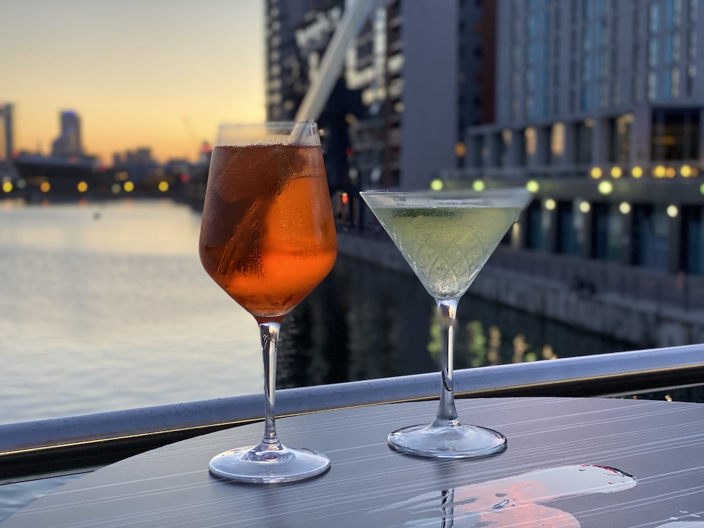 Sunborn Hotel cocktails