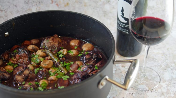 Coq au Vin with Entre Lunas Wine