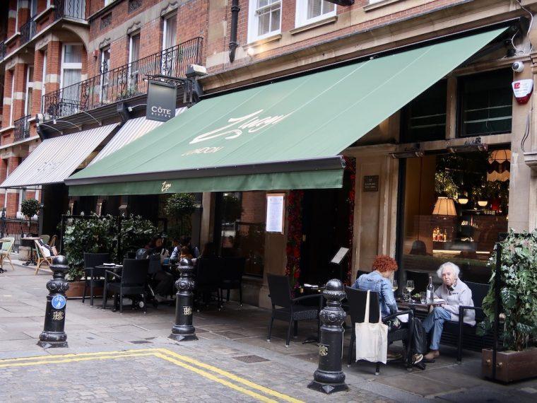 Exterior Zuaya restaurant Kensington