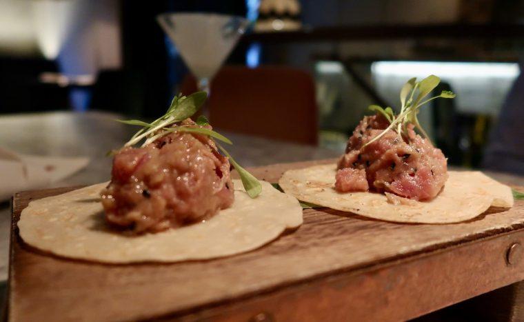 Zuaya tuna and avocado tacos