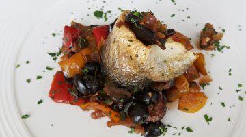 Caponata with Sea Bass - bella cosa
